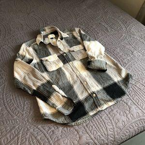 Universal Thread Women's Gray Flannel Shirt XS